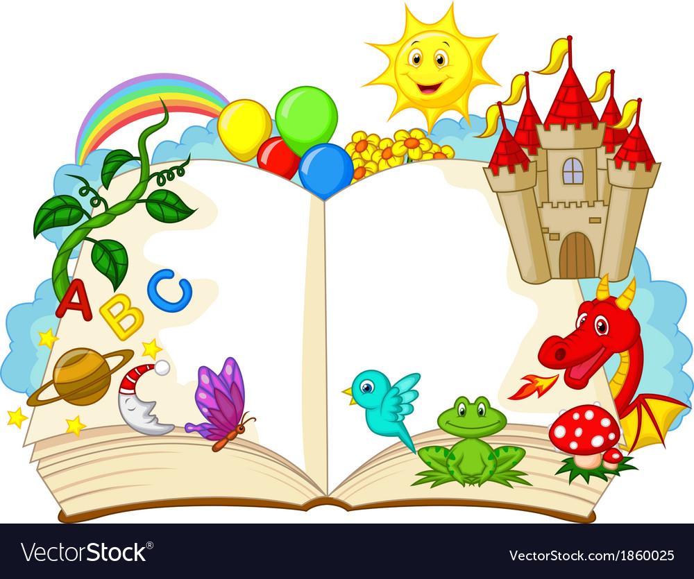 Fantasy book cartoon vector image