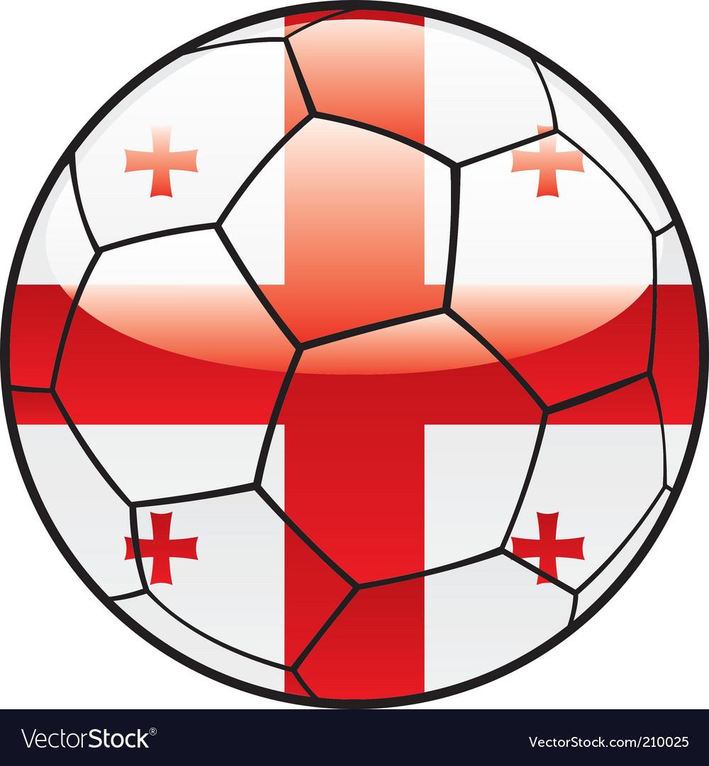 Georgia flag on soccer ball vector image