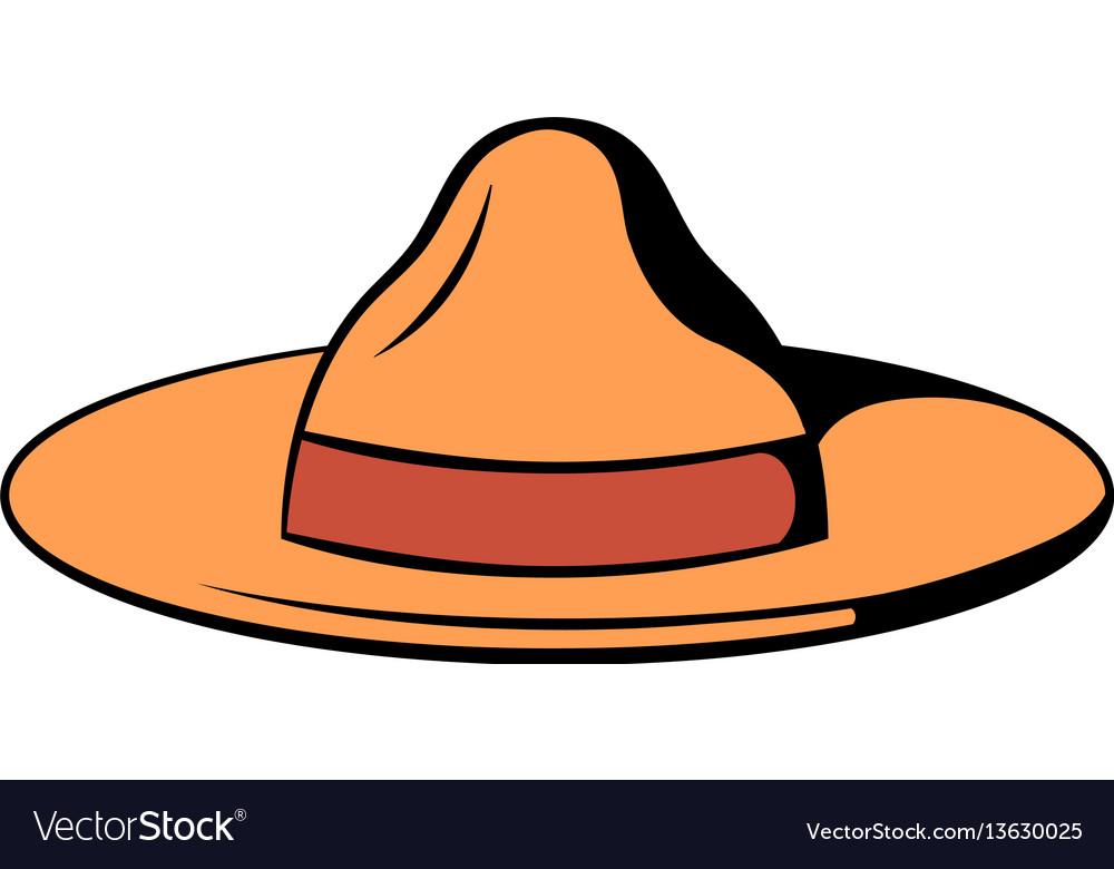 Hat icon cartoon vector image