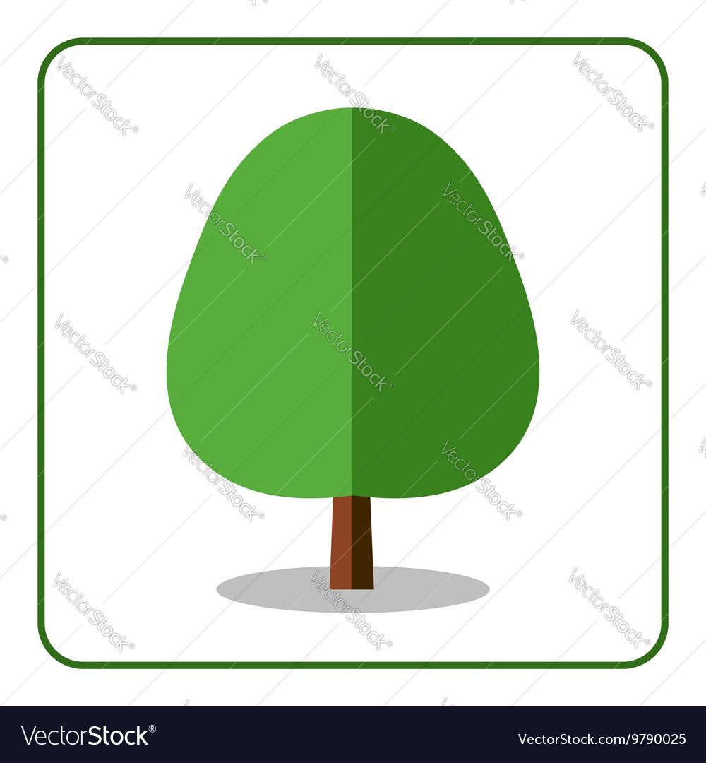 Oak linden tree icon