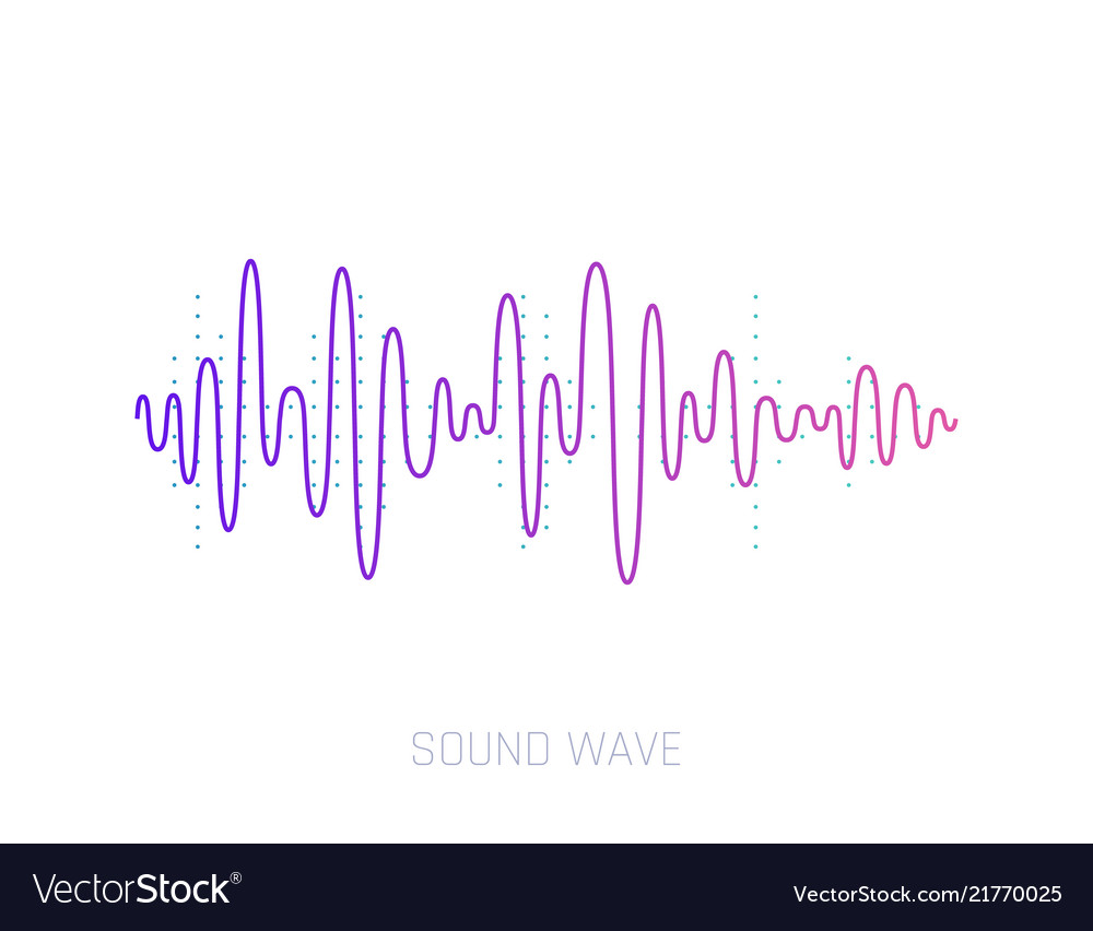 Sound wave colorful sound waves for party