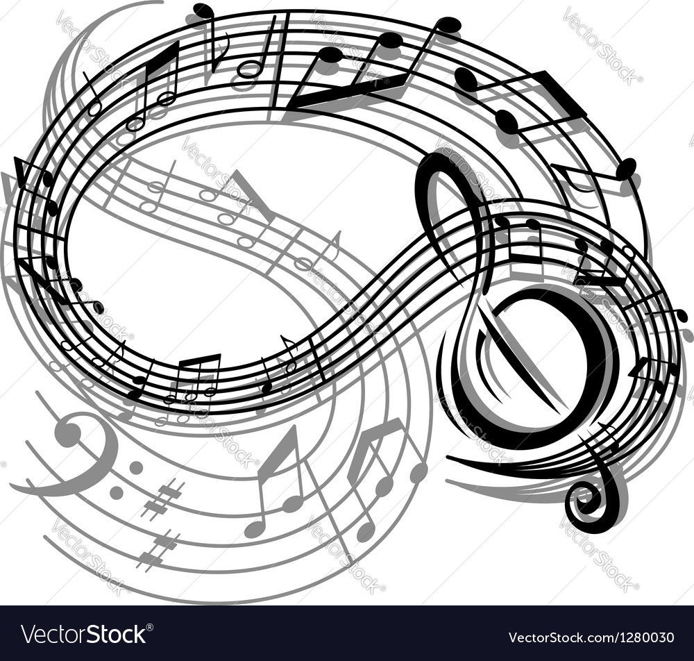 Abstract retro music background vector image