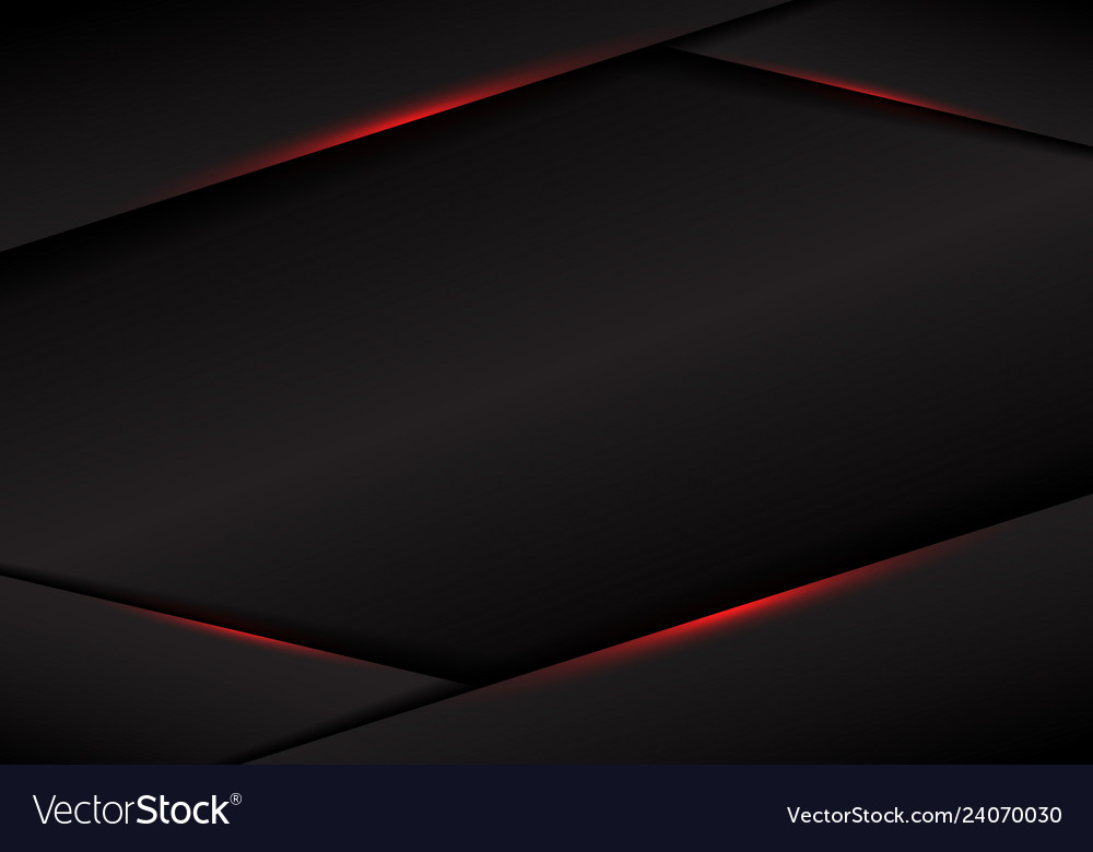 Abstract template black frame layout metallic red