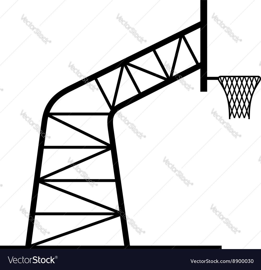 Basketball Hoop Royalty Free Vector Image Vectorstock Diagram