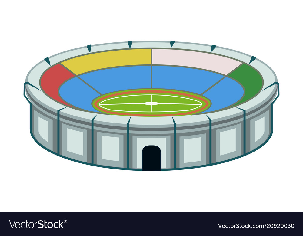 Colorful cartoon sport stadium