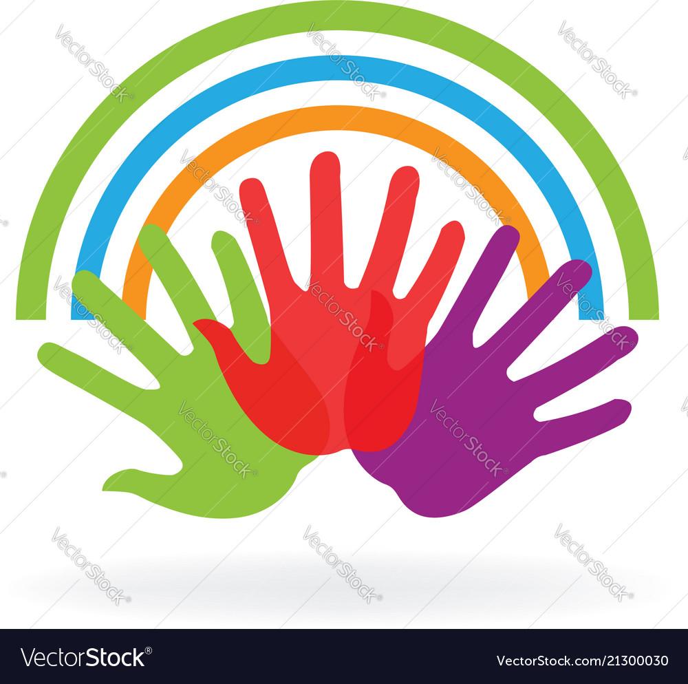 Creative group hands logo