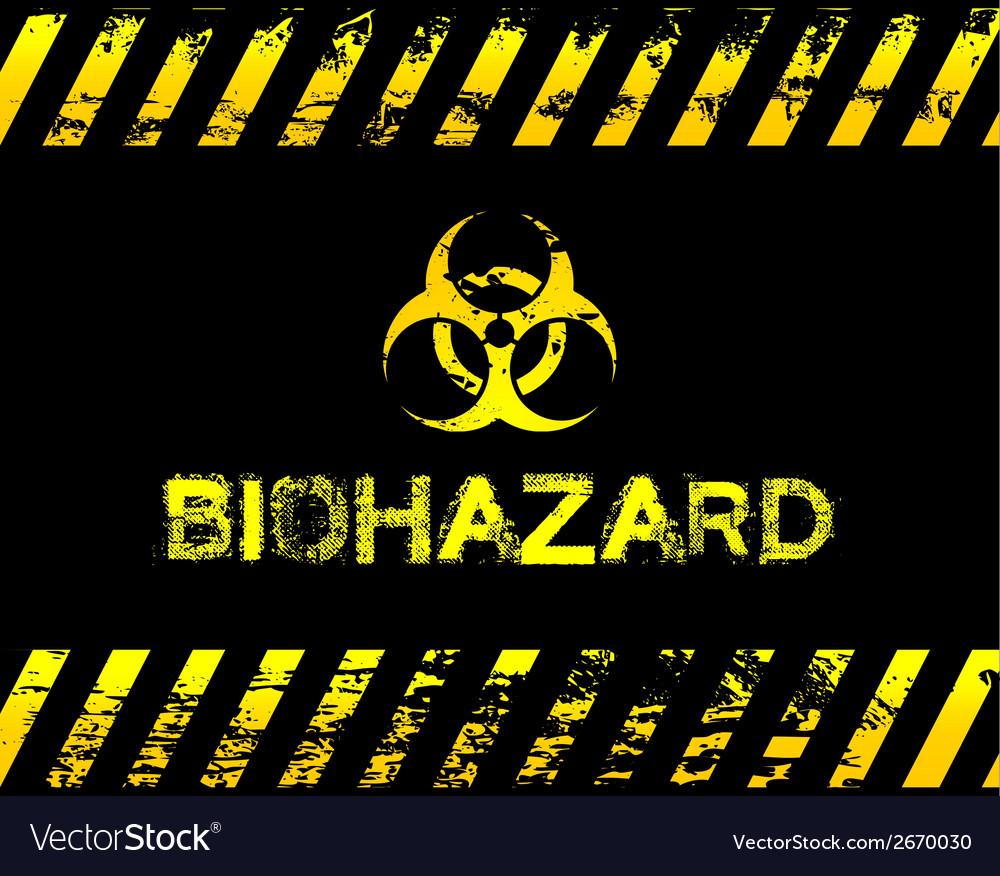 Grunge biohazard