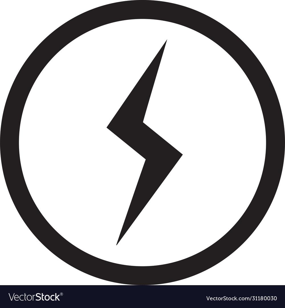 Lightning bolt icon flash icon