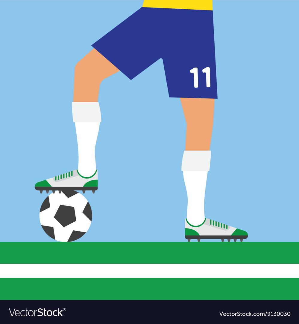 Man legs playing football