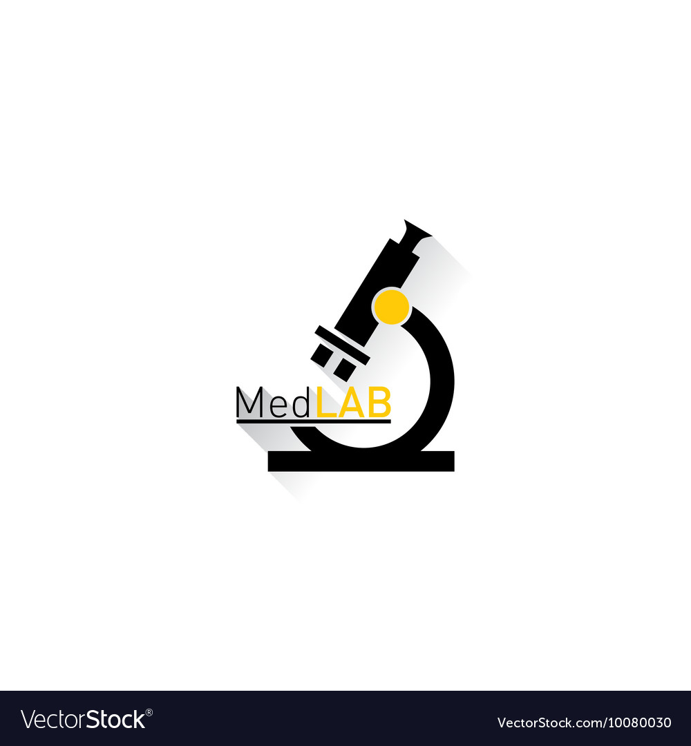 Microscope Medical laboratory Logo vector image