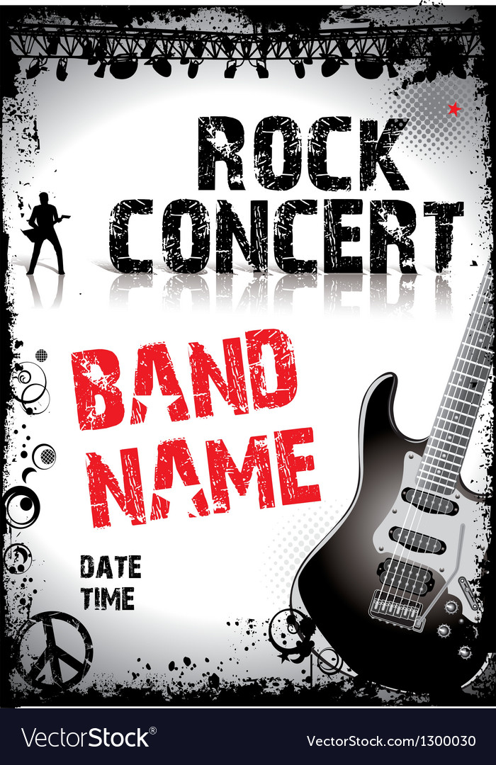 Rock-concert-poster Royalty Free Vector Image - VectorStock
