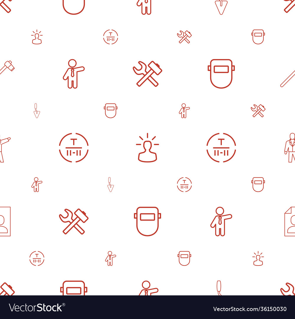 Worker icons pattern seamless white background