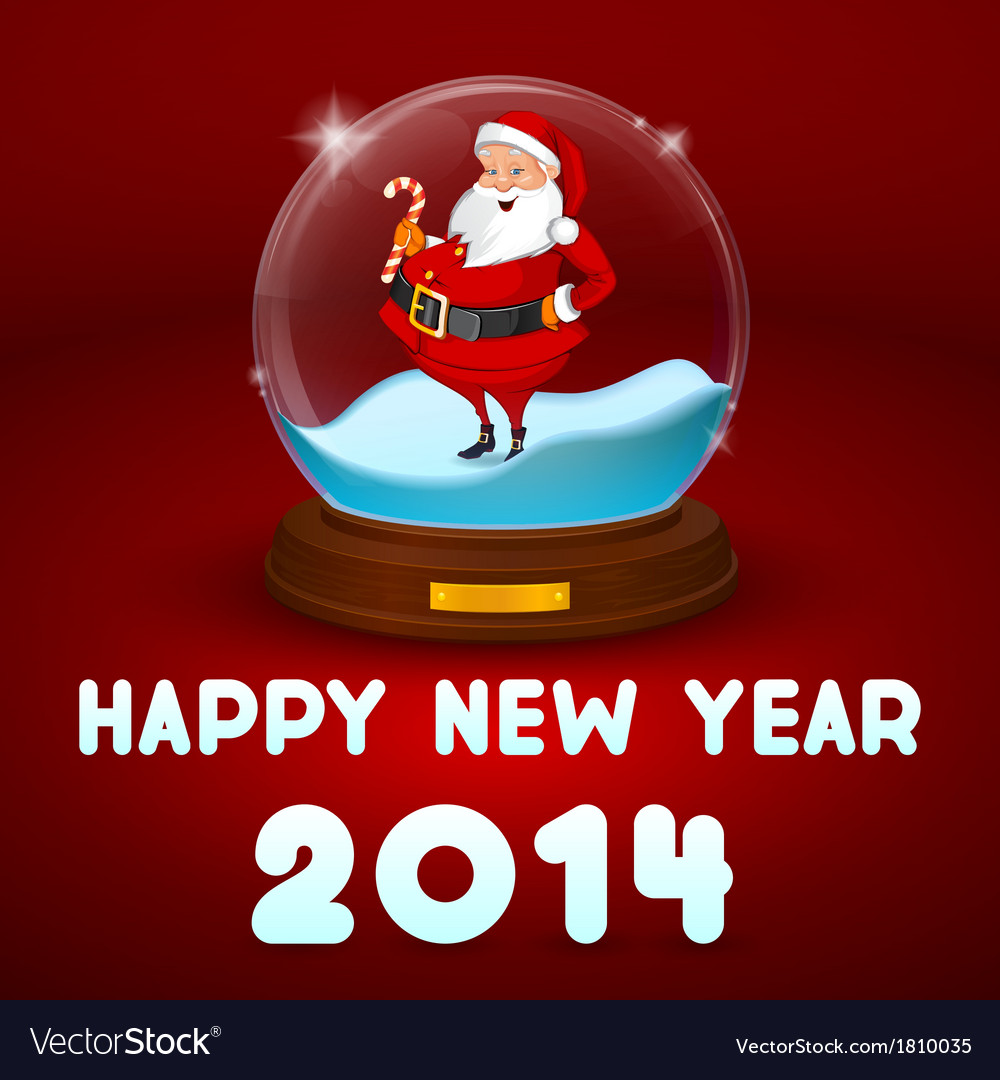 Hake with Santa inside the ball