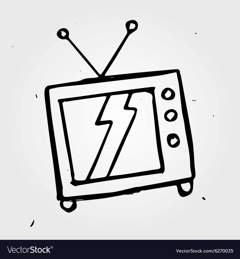 Hand drawn TV