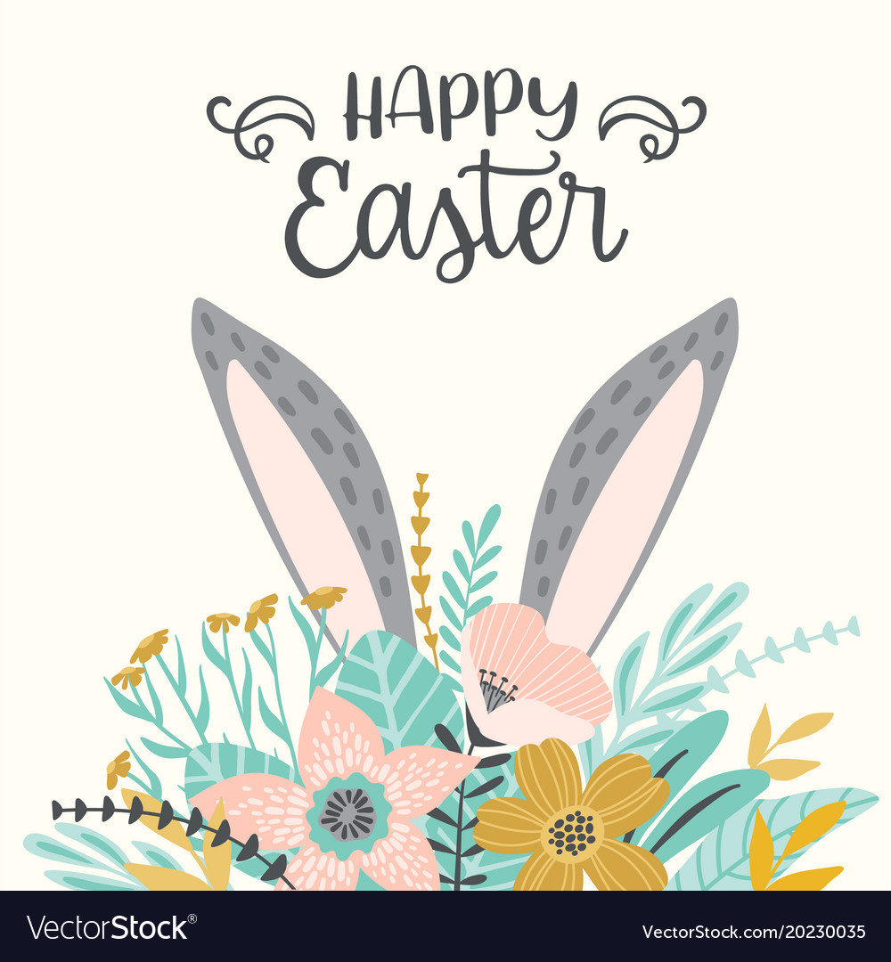 happy easter template for card poster royalty free vector