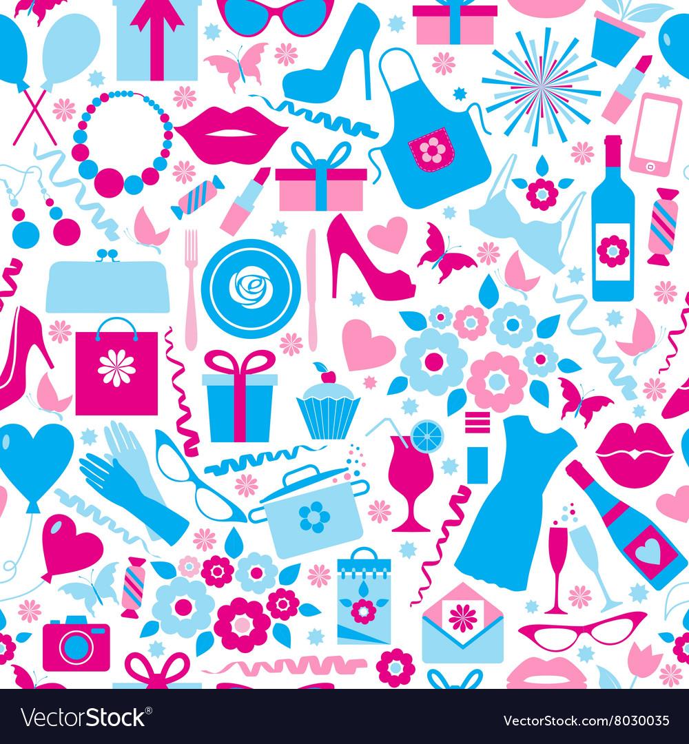 Seamless pattern of spring celebration vector image