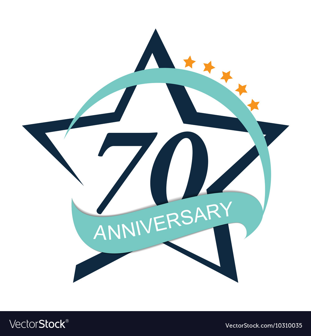 template logo 70 anniversary royalty free vector image