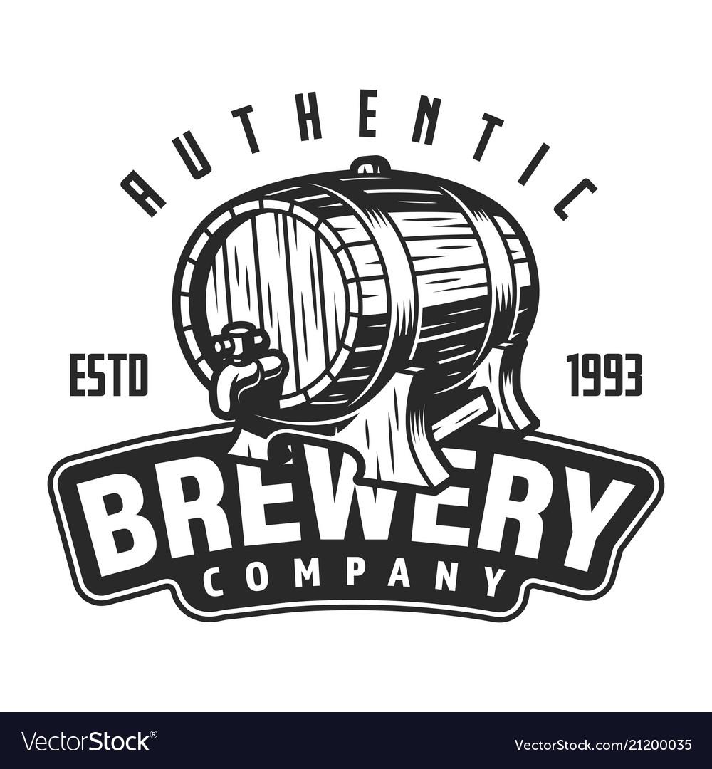Vintage brewery logo template