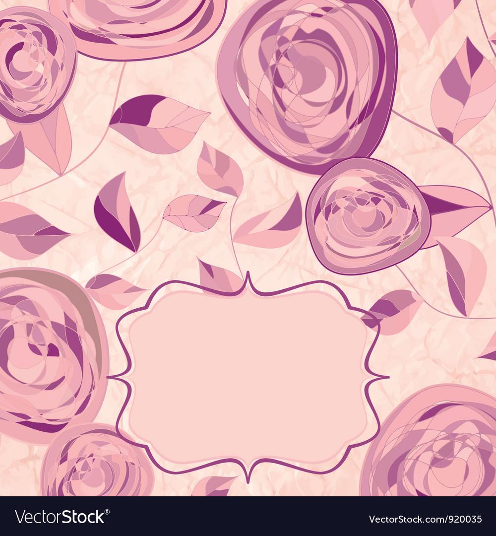 Vintage Rose Pattern Card