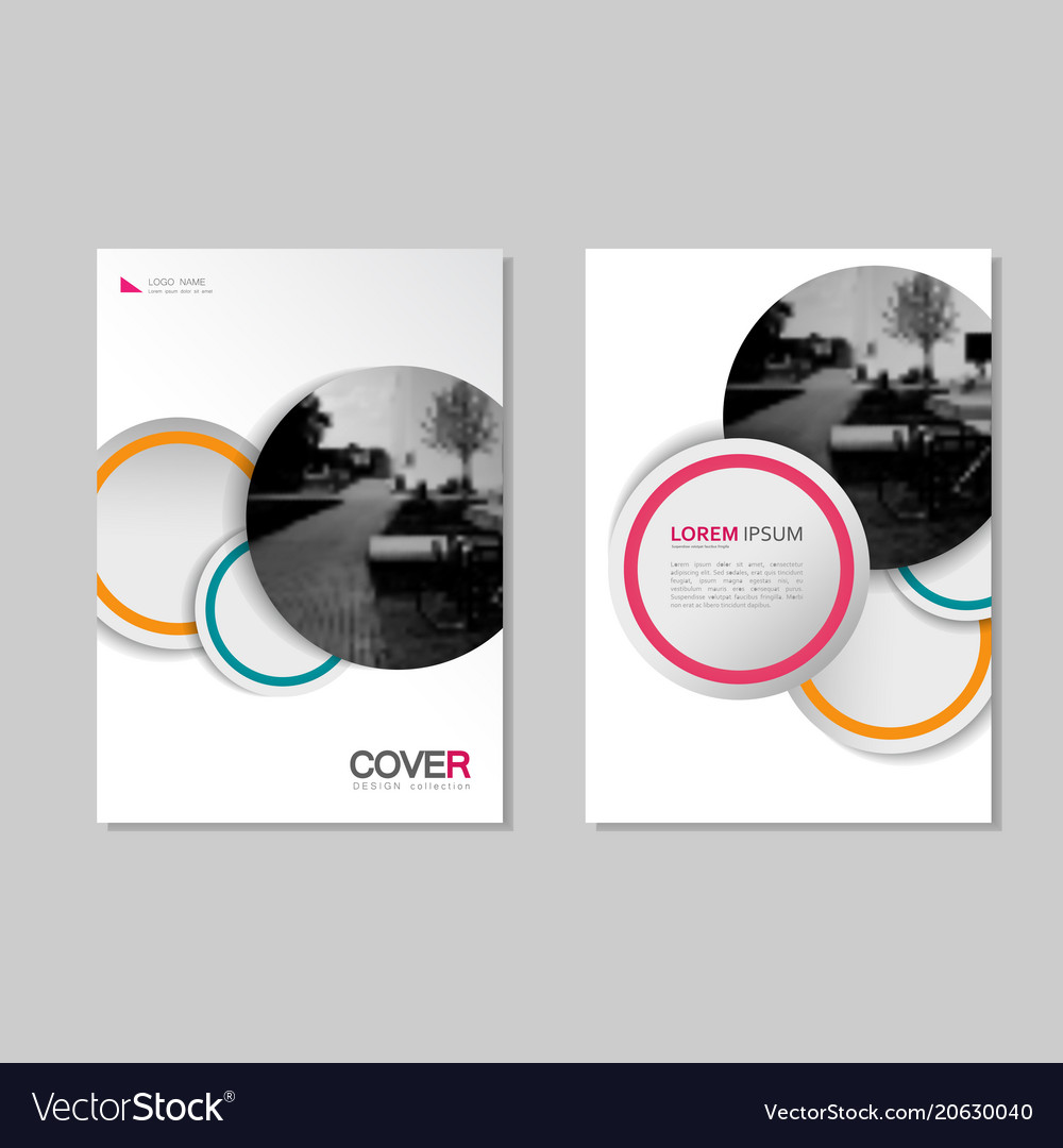 Brochure template design for presentations