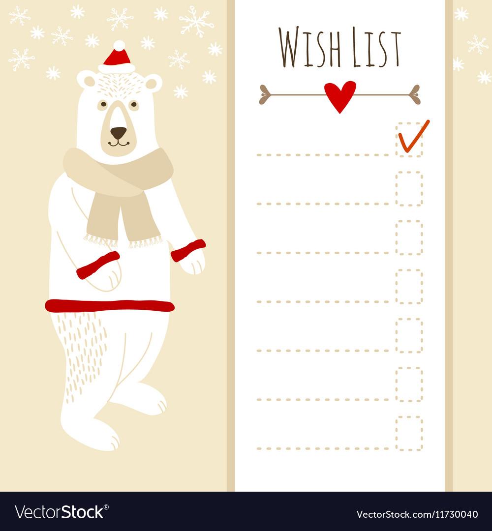 Christmas Lists.Cute Christmas Cardbaby Shower Wish List With