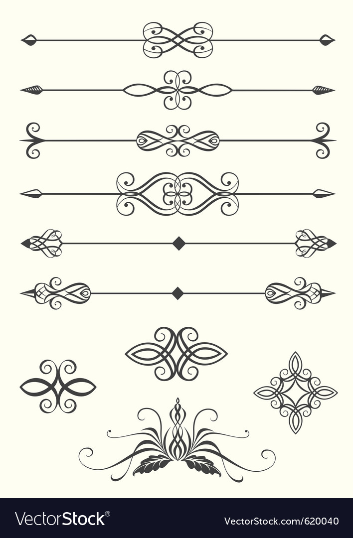Line dividers vector image