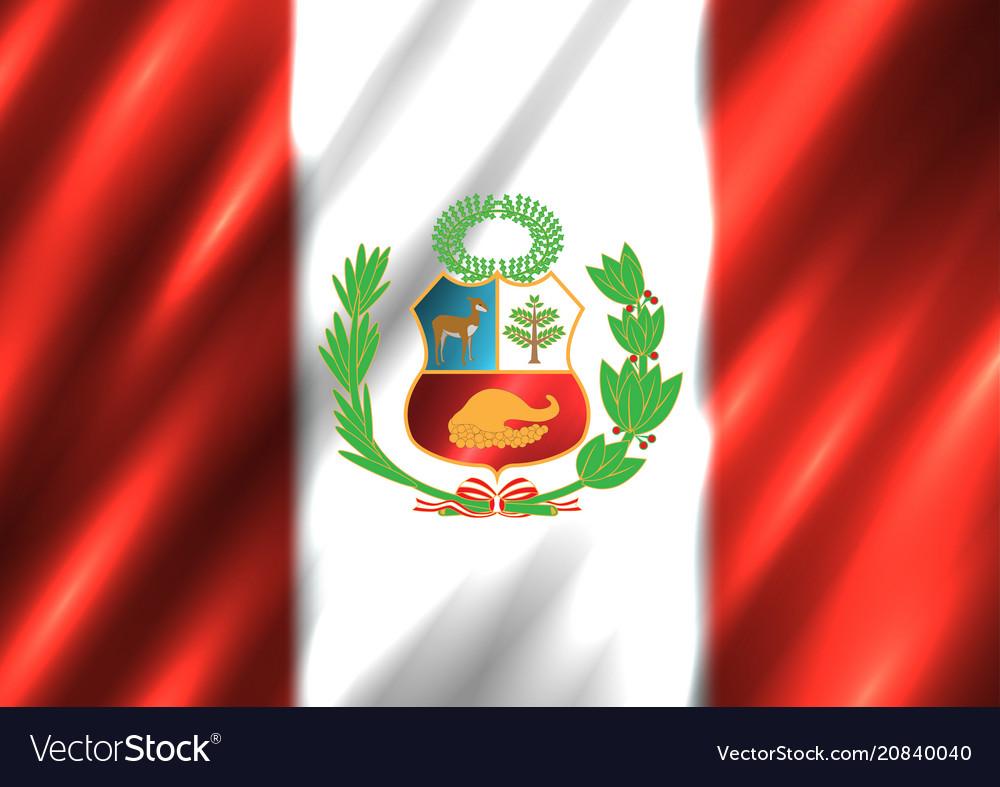 peru national flag background royalty free vector image