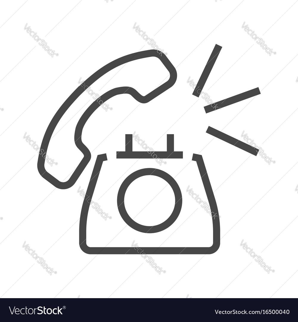 Phone thin line icon