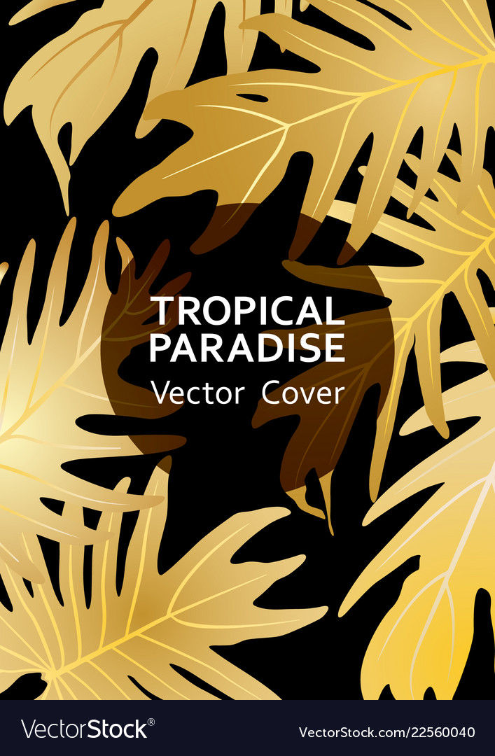 Tropical paradise leaf cover layout