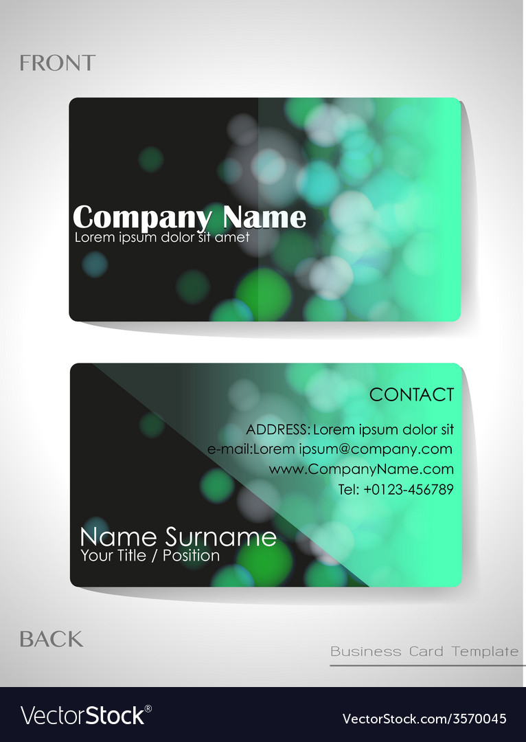 A gradient colored business card Royalty Free Vector Image