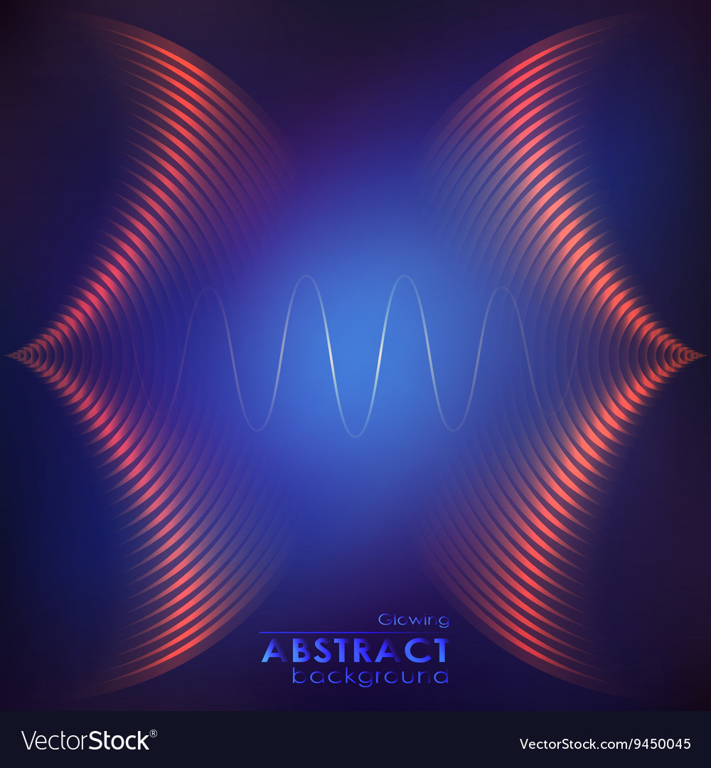 Abstract music wave vector image