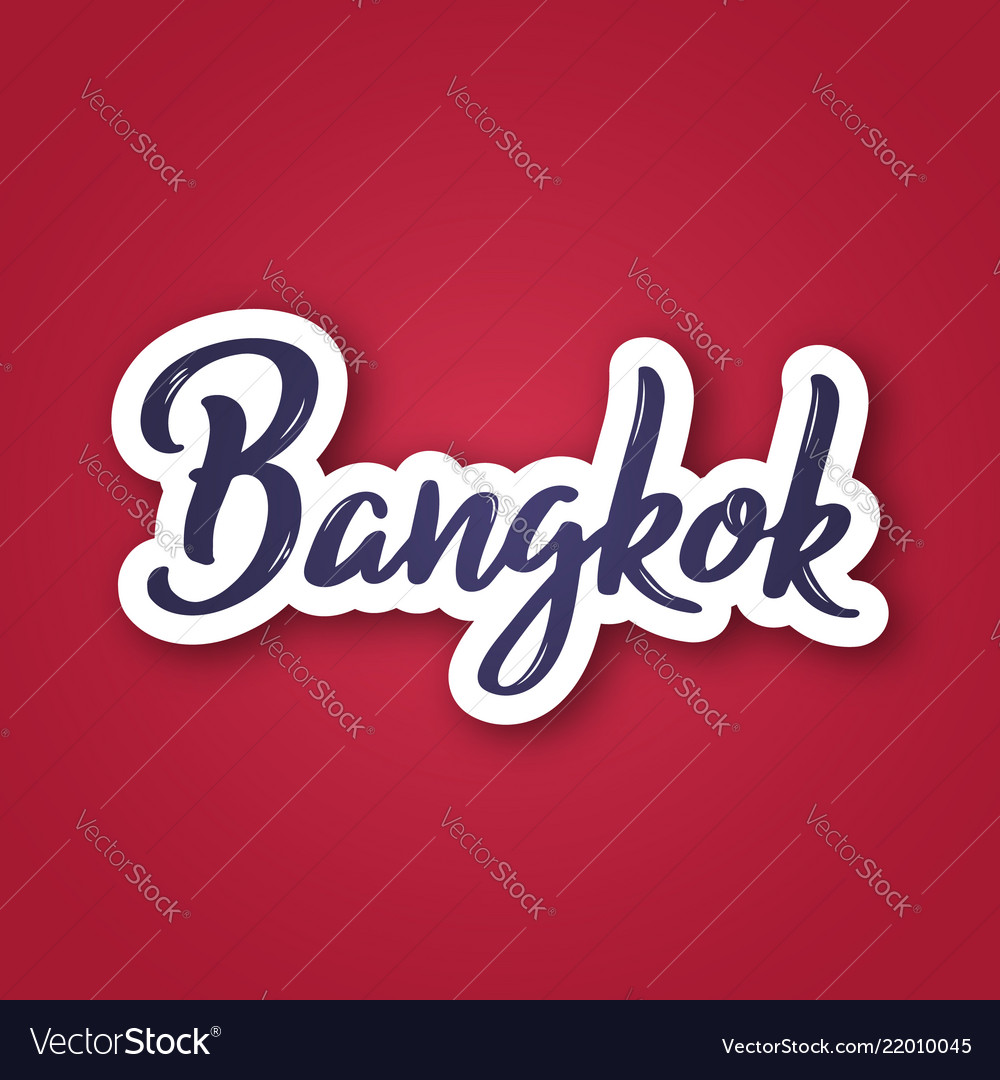 Bangkok - hand drawn name of thailand sticker