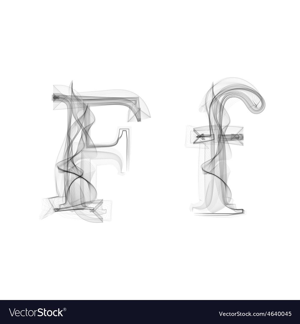 Black Smoke font Letter F