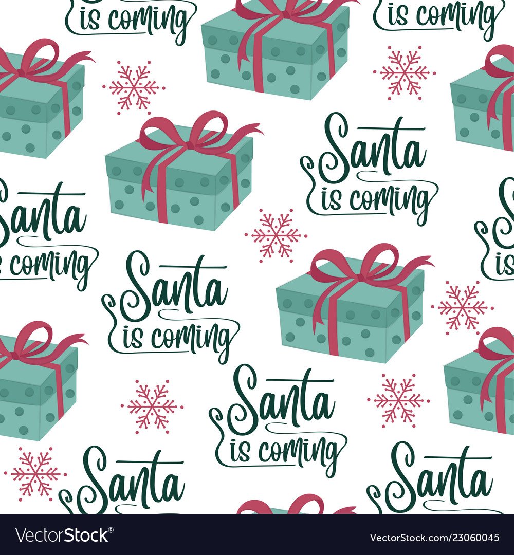 Christmas seamless pattern with gift boxes