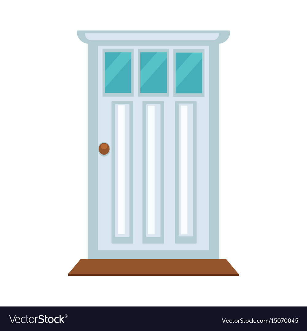 Front door with three small glasses and brown