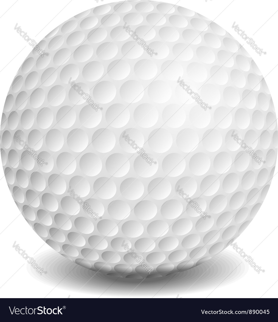 golf ball royalty free vector image vectorstock rh vectorstock com Golf Ball Size Golf Ball Size