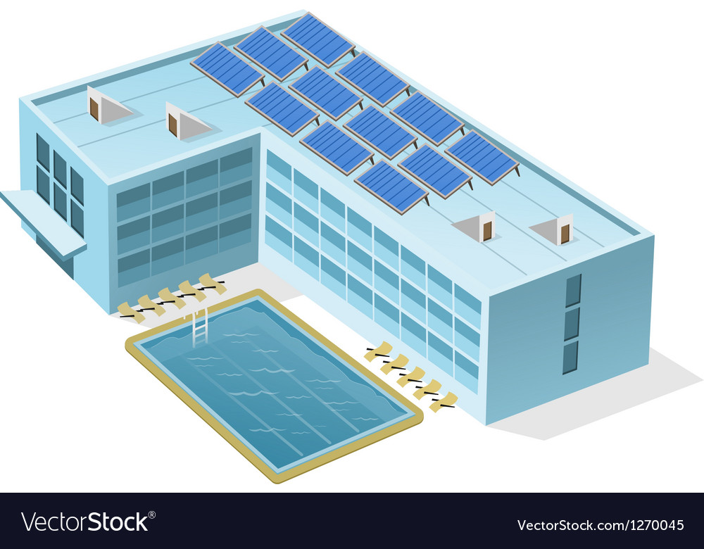 Hotel with Pool vector image