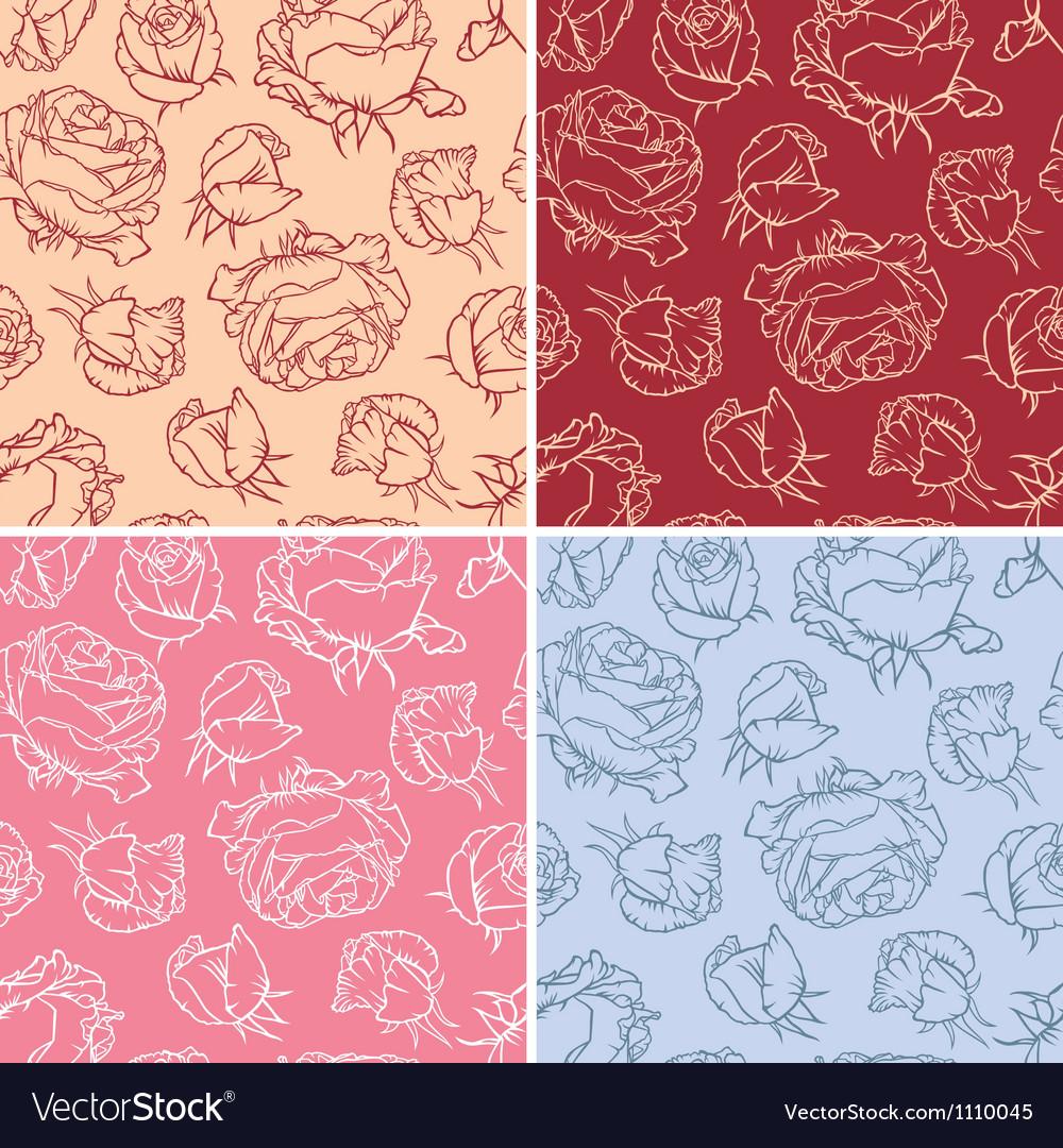 Pattern flowers roses