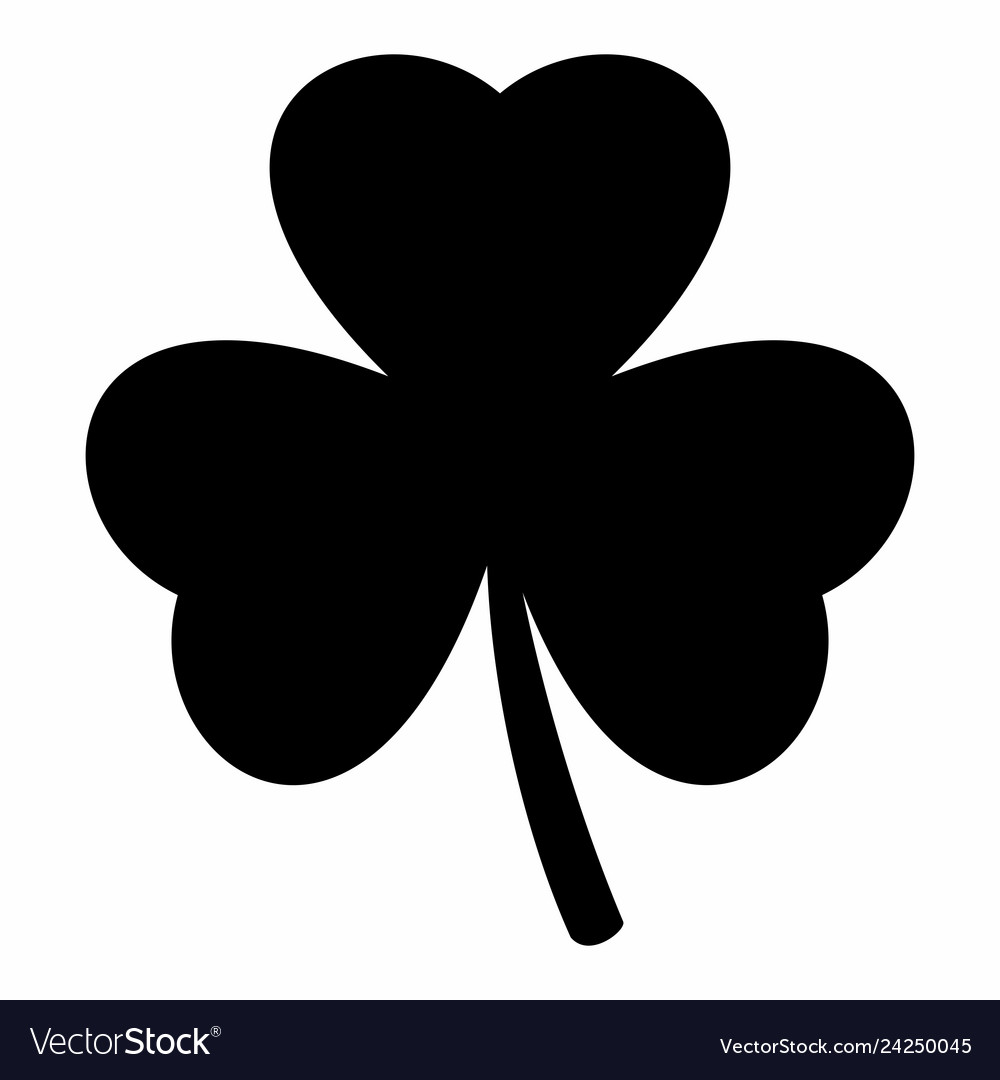 Shamrock silhouette. Vector images over