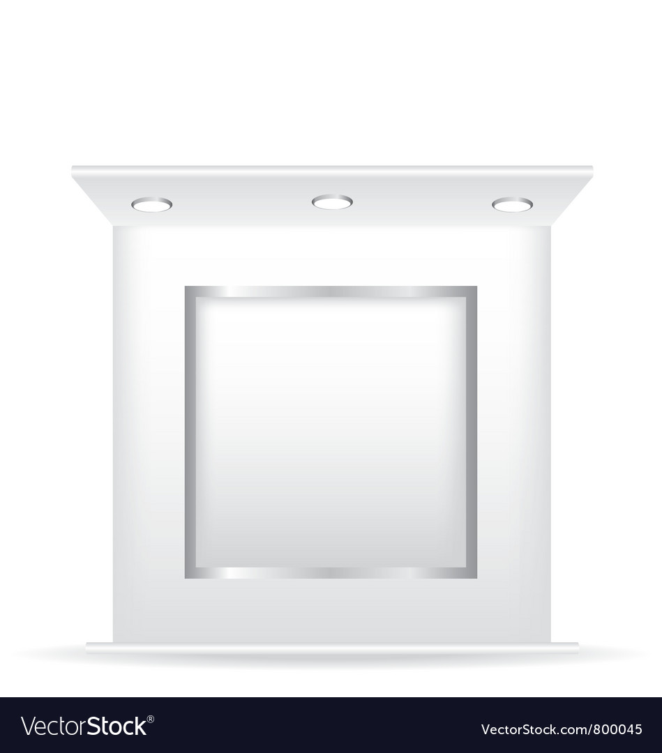 Trade stand and frame vector image