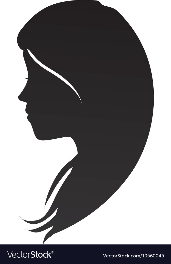 9b73ace2a Woman head profile silhouette Royalty Free Vector Image