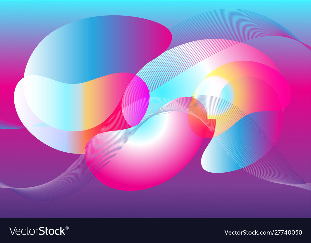 Abstract fantasy multicolored transparent