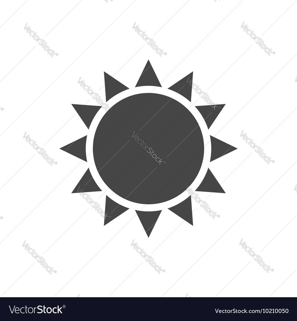 Black design element Light sign sun isolated