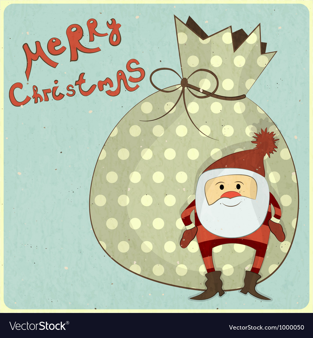Christmas cards with cartoon Santa Royalty Free Vector Image