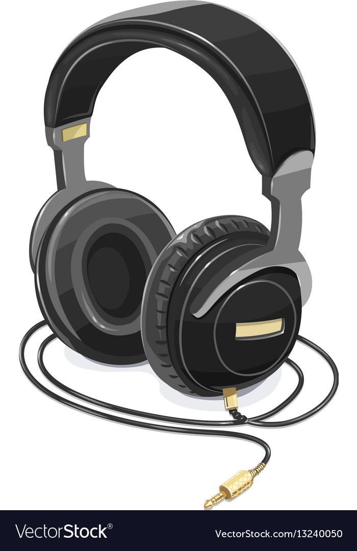 Headphones for listen music vector image