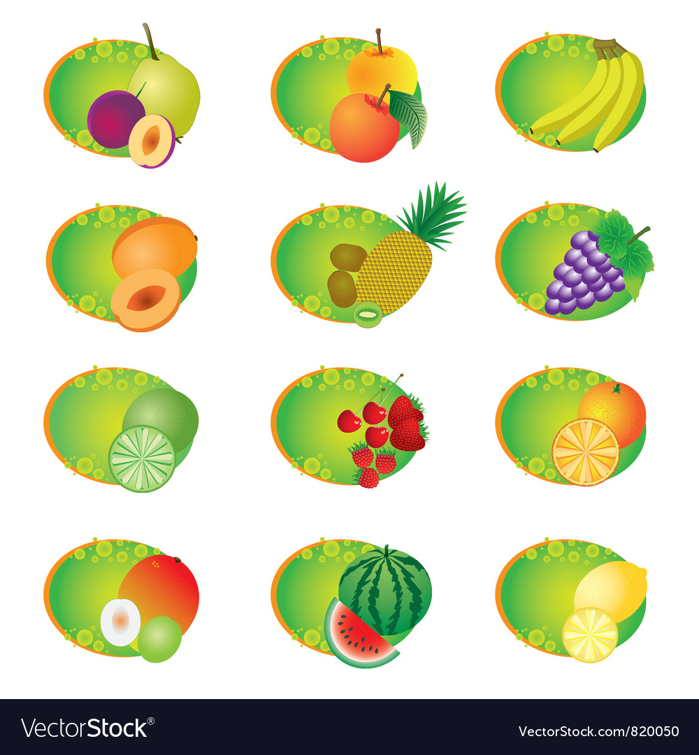 Icons with fruits