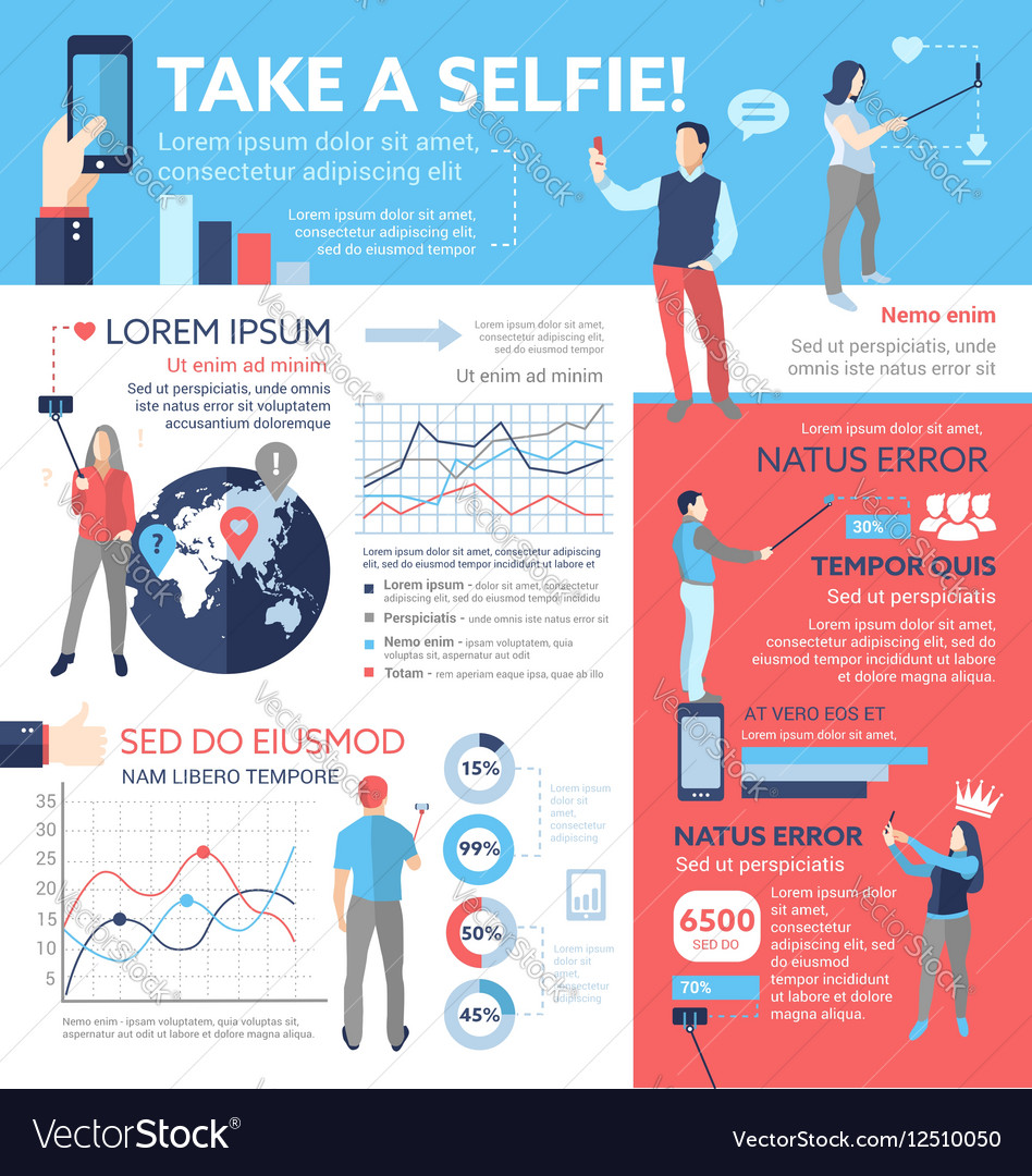 take a selfie poster brochure cover template vector image