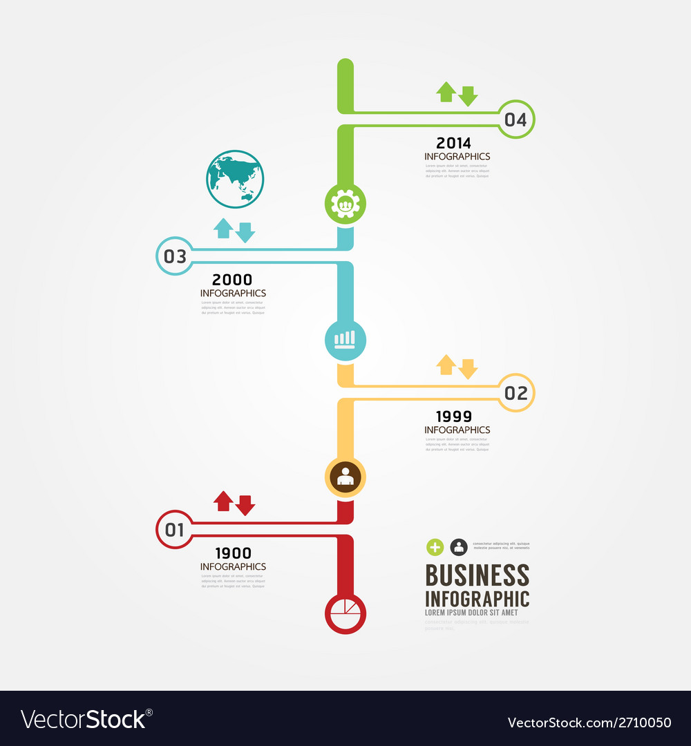 timeline infographic design template royalty free vector