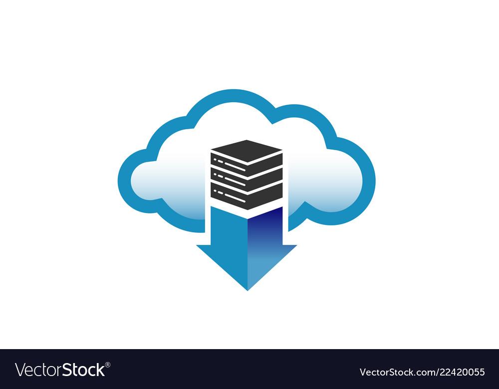 Cloud server arrow logo