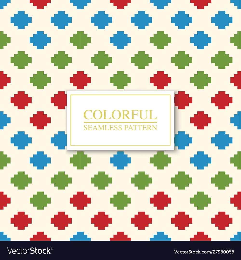 Colorful seamless geometric pattern - dotted